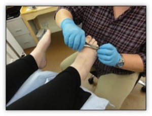 foot care services toenail clipping