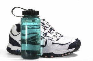 Sport Sneakers and Water Bottle
