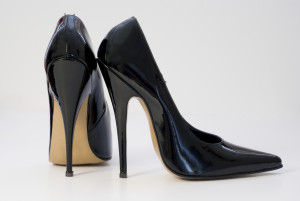 Patent Black High Heels