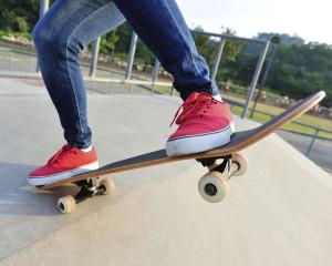 skateboarding foot injury