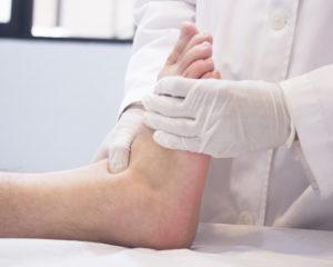 diabetic foot exam