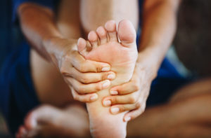 runner with foot arch pain